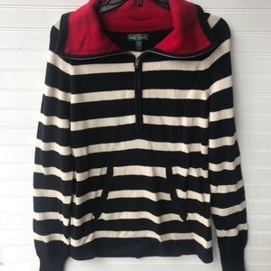 Lauren Ralph Lauren Striped Knit Pullover Sweater